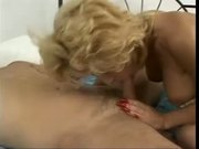 Busty Blonde Skinny Milf in Open Hose Fucks