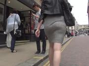 See Through Grey Skirt And Thong