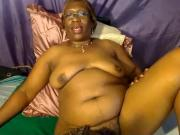 Black Granny shows me her wet cookie