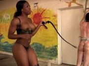 Black Mistress whipping