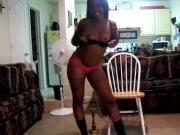 Black Teen Twerk & Titty Flash - Ameman