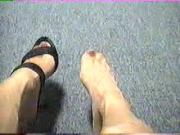 Pantyhose Hi Heel Foot Tease