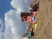 Big tits beach candid milf topless