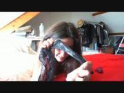 webcam d'une jolie brune - une cochonne s'amuse