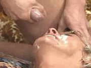 Daughter Lets 3 Guys Unload On Moms Face