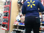 candid ass wal-mart worker
