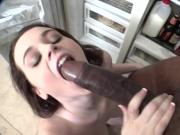 Tessa Lane deepthroats big black cock