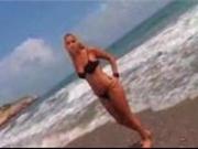 Thais Teases on the beach FM14