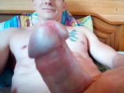 Blue eyed boy wanking