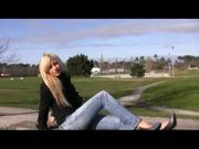 blond teen first video casting part 2