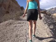 Hot Blonde babe fucks on hike