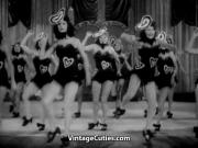 Burlesque Girls Dance on Stage 1940s Vintage