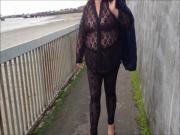 seethrough leggings and top