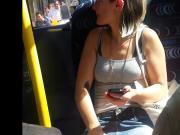 Peeking Up Commuters Skirt