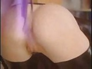 Latex maid fucking very hardly in ass