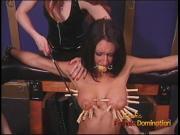 Three naughty sluts have their way with a ravishing raven-ha