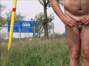 eunuch nude beside motorway and public ejaculation