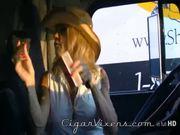 Mandy K SMOKES a cigar 1