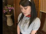 Jap Schoolgirl Gets Disciplined With The D