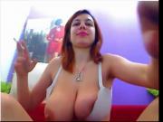 Smoking Fetish - Big tits smoking in cam
