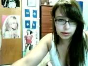 Nerd Girl on Webcam