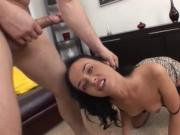 gorgeous brunette gets her ass stretched