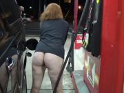 Ass out in Public Gas Station