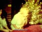 Santa Fucking in Christmas Threesome 1960s Vintage