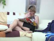 Hot Russian Blonde fucked in Pantyhose
