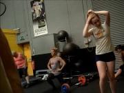 candid voyeur gym
