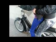 Leggings On Scooter