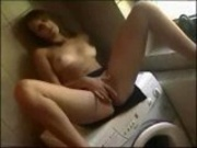 Sexy Girlfriend Hardored on The Dryer