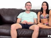 Webcam beauty Megan Rain orgasms on dick
