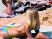 Hidden cam - topless cutie at beach 2