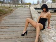 Shooting Pussy Flashing public Parc Cassandra Michelli