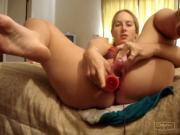 Amber double penetration masturbation orgasm