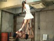 FEMDOM Emiru Hanging and Strap On Dildo