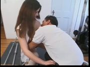 Cute hairy girl skips class ends up getting fucked