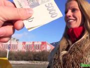 Pickedup euro slut busty babe pov banged