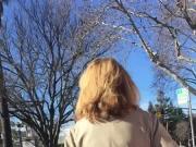 Tall Blonde MILF lunch break walk 1
