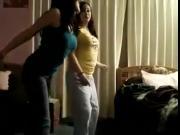 Hot Pakistani girl & friend dancing in bedroom