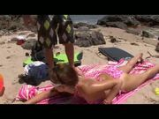 Allie's Beach Blowjob