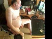 grandpa stroking and cum watching porn