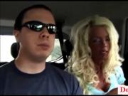 Donny Long snaps big fake titty skinny milf anf gives her sn