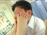 Japanese FeeT Smushing the DocTor's Face