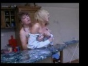 Mature Lesbian Molests Younger Girl