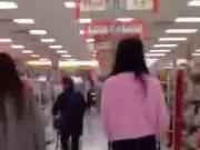 Asian woman at supermarket