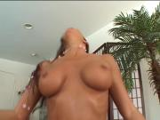 Chick tries a big cock in her ass
