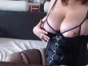 BBW webcam model oiling big tits