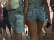 Little Teen in Tightest Shorts, Close Up, HD